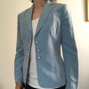 Classiques Entier light blue linen & silk blazer